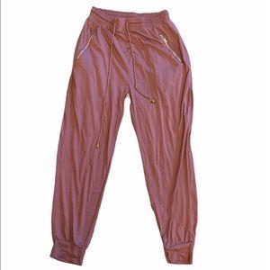 Indero mauve cotton stretchy harem pants L/XL